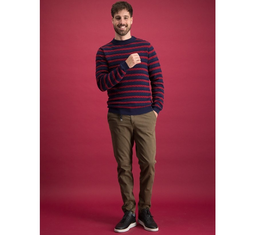 Sweater Cable Navy/Red (23.01.511)