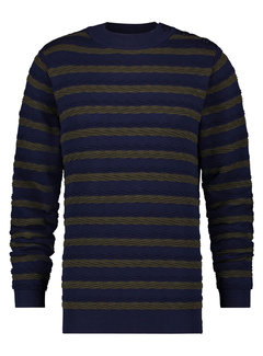 A Fish Named Fred Sweater Cable Navy/Green (23.02.510)