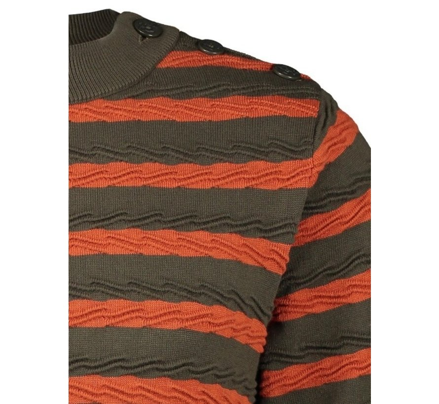 Sweater Cable Green/Orange (23.02.512)