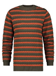A Fish Named Fred Sweater Cable Green/Orange (23.02.512)