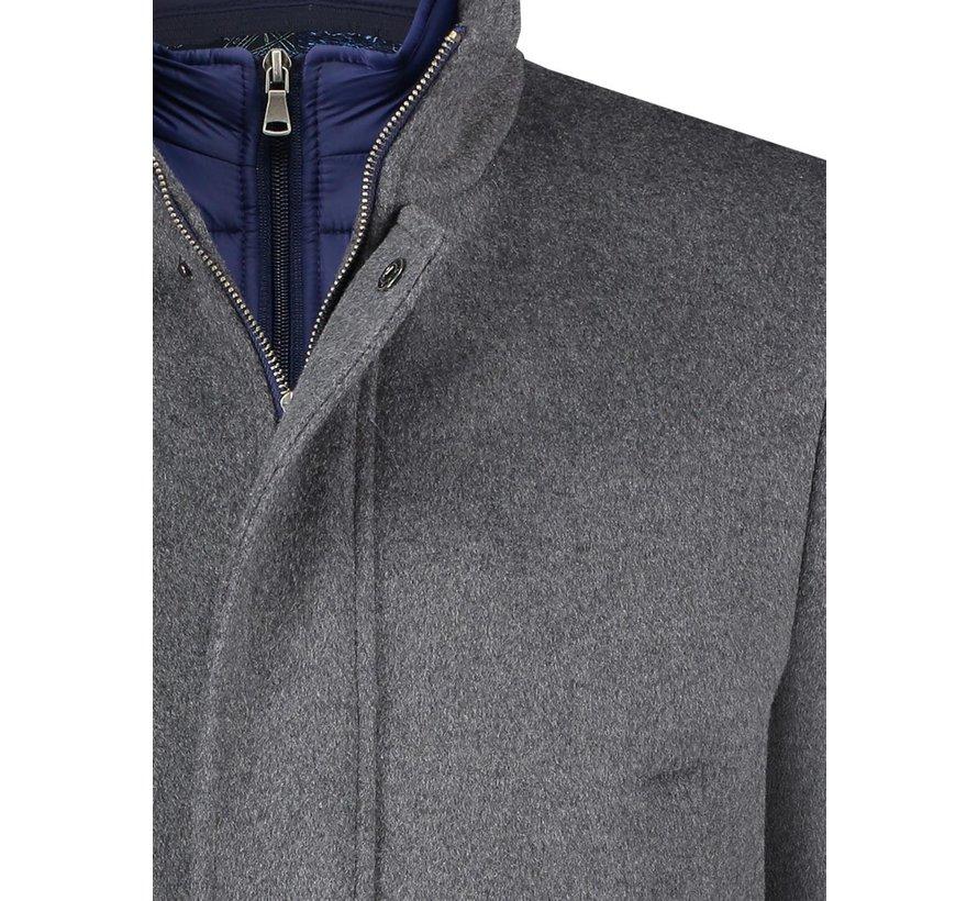 Winterjas Funnel Neck Coat Grey (23.02.161)