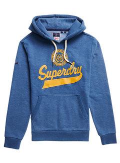 Superdry Hooded Sweate Rich Blue Marl (M2011386A - BIF)