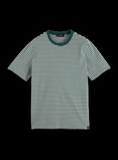Scotch & Soda T-shirt Organic Cotton Stripe Groen (163962 - 0218)