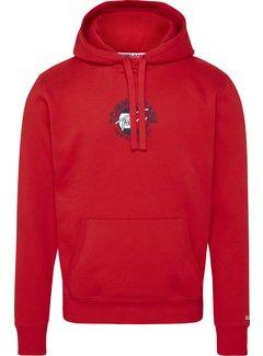 Tommy Hilfiger Hooded Sweater Deep Crimson Rood (DM0DM11628 - XNL)