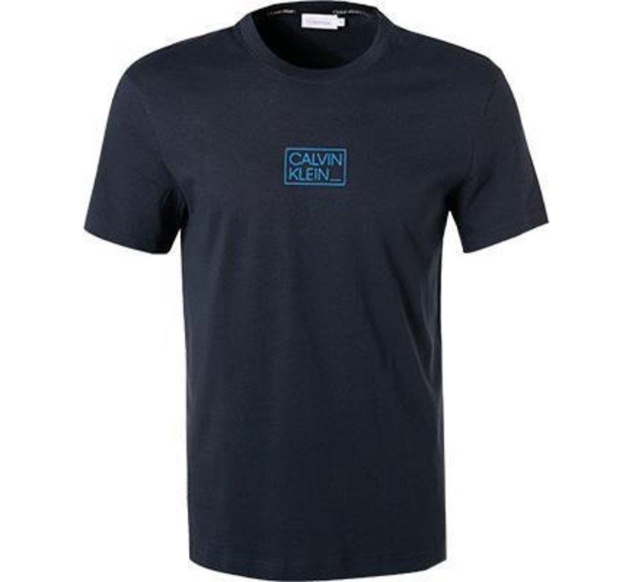 T-Shirt Chest Box Logo Navy (K10K107714 - DW4)