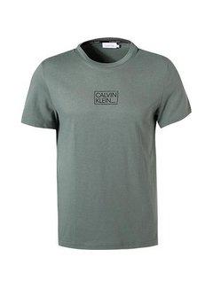 Calvin Klein T-Shirt Chest Box Logo Balsam Green(K10K107714 - LA7)