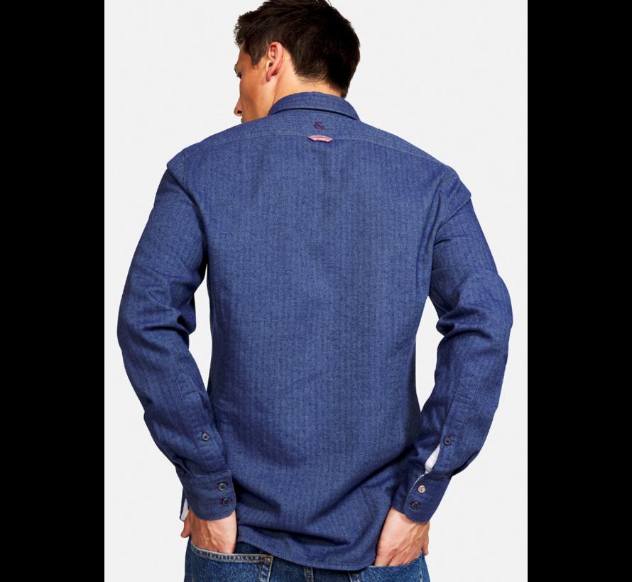 Overhemd Cashmere Navy (9221 - 240 - 243)