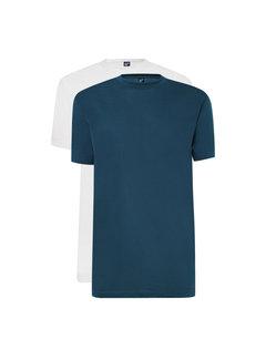 Alan Red T-shirts Virginia 2-pack Denim/White (3129 - 07)
