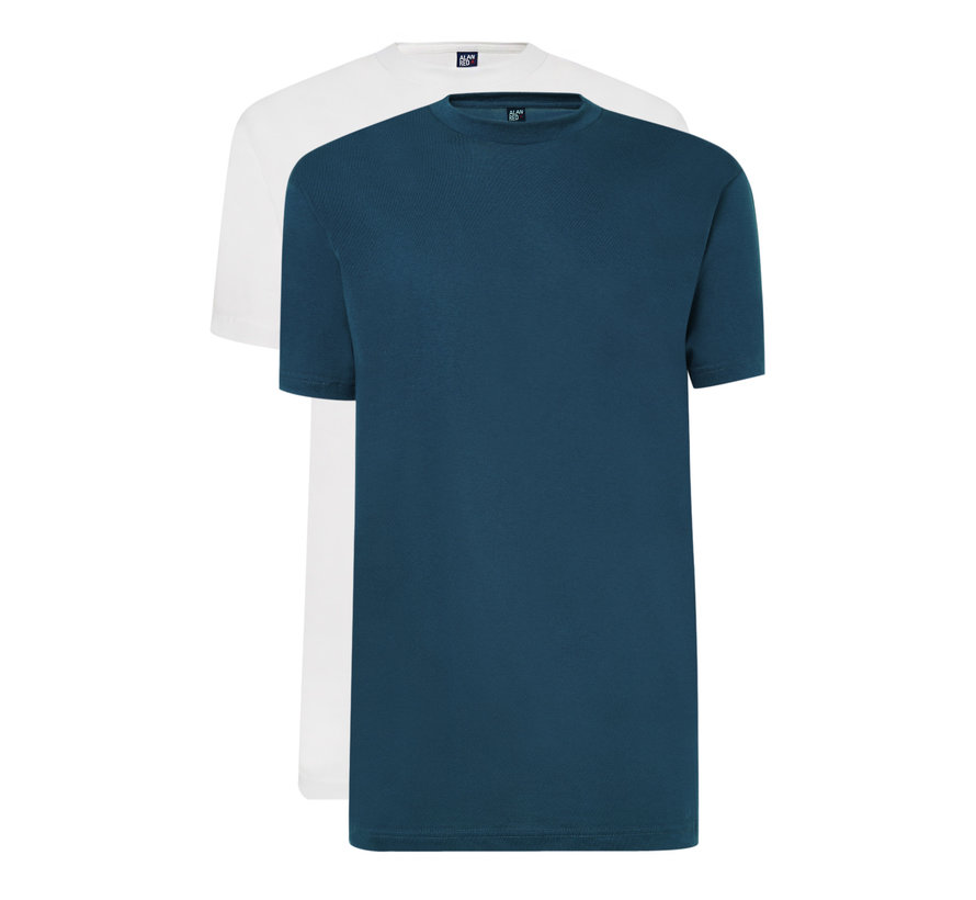 T-shirts Virginia 2-pack Denim/White (3129 - 07)