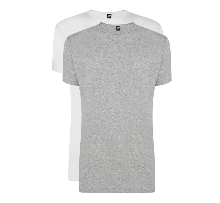 T-shirts Derby 2-pack Grey/White (6672 - 68)