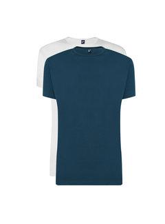 Alan Red T-shirts Derby 2-pack Denim/White (6672 - 07)