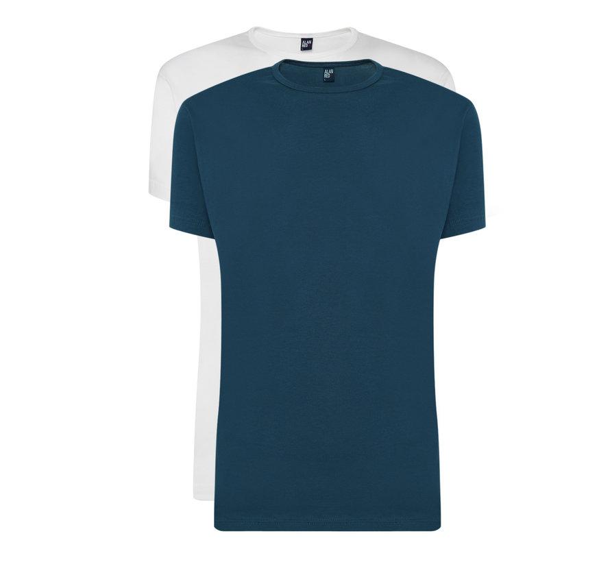 T-shirts Derby 2-pack Denim/White (6672 - 07)