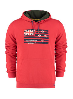 New Zealand Auckland Hooded Sweater Kimihia Rood (21GN300A - 1501)