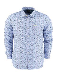 New Zealand Auckland Overhemd Charwell Blauw (21GN554 - 1688)