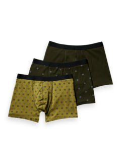 Scotch & Soda Boxershorts 3Pack Groen (164143 - 0220)