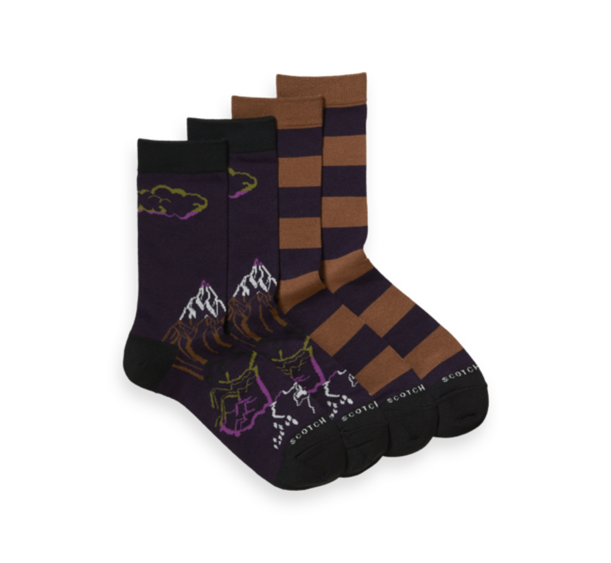 Sokken 2-Pack Dark Purple (164152 - 0217)