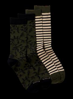 Scotch & Soda Sokken 2-Pack Army Green/Beige (164152 - 0218)