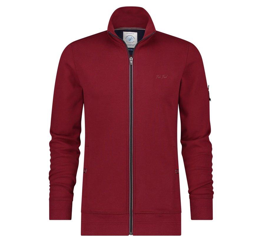 Vest Interlock Burgundy Red (23.01.516)