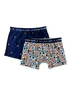 A Fish Named Fred 2Pack Boxershort Fred On Deck Multicolor (23.01.271)