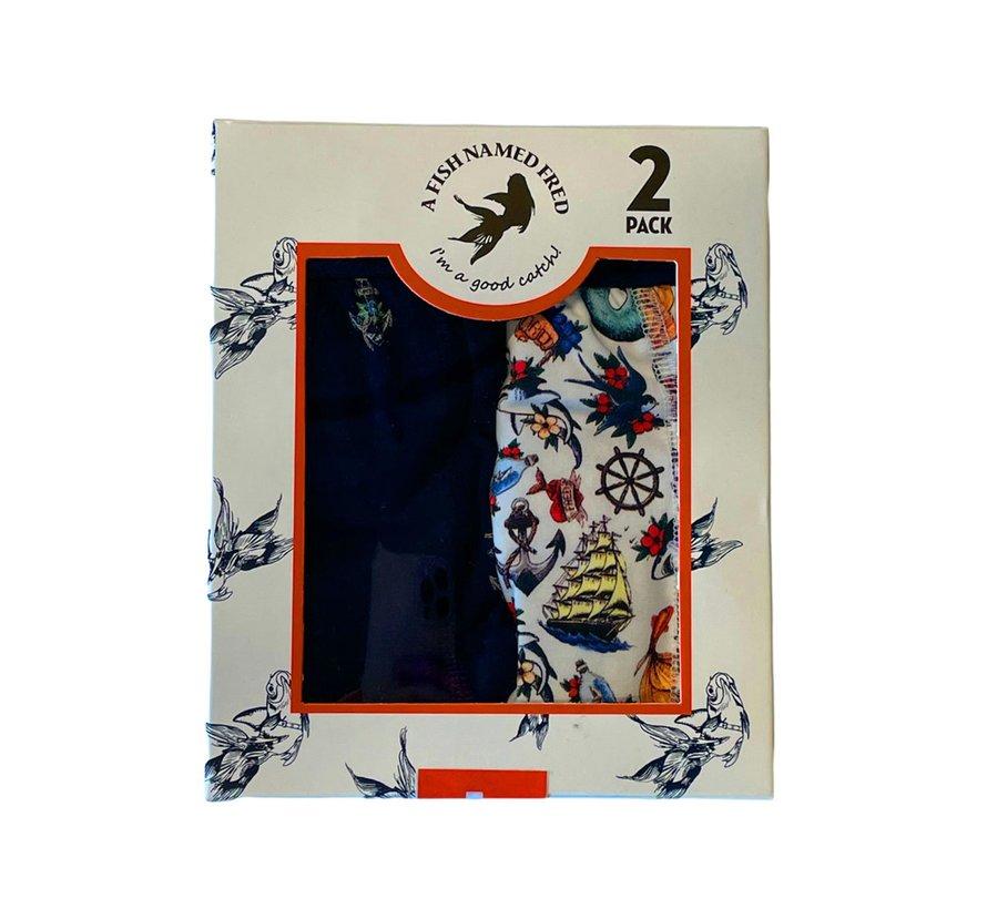 2Pack Boxershort Fred On Deck Multicolor (23.01.271)