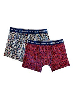 A Fish Named Fred 2Pack Boxershort Fred On Deck Blue (23.01.270)
