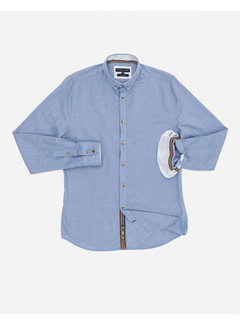 Colours & Sons Overhemd Oxford Faded Navy Blauw (9221 - 205 - 203)