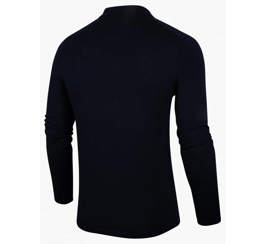 Polo Half-Zip Merino Navy Blauw (118215002 - 699000)