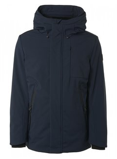 No Excess Winterjas Long Fit Hooded Stretch Softshell Navy (12630906SN - 078)N