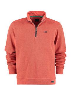 New Zealand Auckland Half-Zip Sweater Wilkin Terra Orange (21HN306 - 1302)