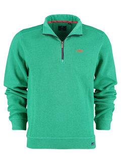 New Zealand Auckland Half-Zip Sweater Wilkin Thyme Green (21HN306 - 1721)