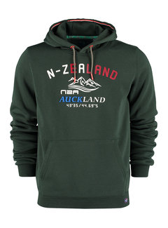 New Zealand Auckland Hooded Sweater Wisely Bayleaf Green (21HN315 - 1701)