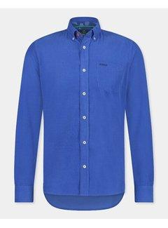 New Zealand Auckland Overhemd Waitoharo Smooth Blue (21HN526 - 1631)