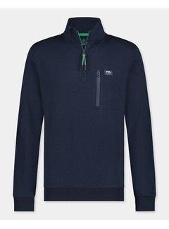 New Zealand Auckland Half-Zip Sweater Nigel Moondust Navy (21HN314 - 1621)