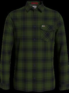 Tommy Hilfiger Tommy Hilfiger Overhemd Flanel Ruit Dark Olive (DM0DM11322 - MRZ)