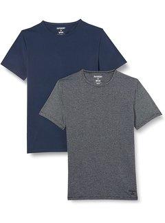 Superdry T-shirt 2Pack Navy/Zwart (M3110315A - ZY1)