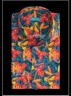 District Indigo Overhemd Print Multicolor Extra Longsleeve (7.12.026.798 - 984)