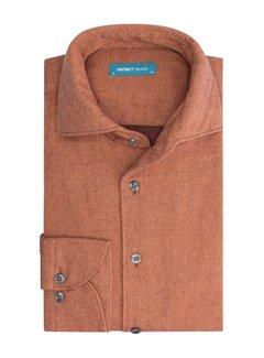 District Indigo Overhemd Oranje Extra Longsleeve (7.12.056.735 - 985)