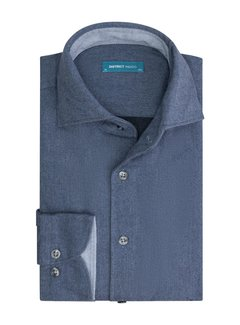 District Indigo Overhemd Navy Extra Longsleeve (7.12.056.735 - 916)