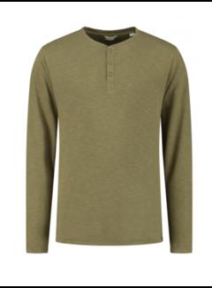 Dstrezzed Longsleeve T-shirt Henley Olive (202726 - 536)B