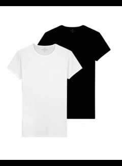 Dstrezzed T-shirts Ronde hals 2-Pack Bamboo Black & White (202312 - 199)B