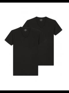 Dstrezzed T-shirts V-hals 2-Pack Bamboo Black (202310 - 999)B