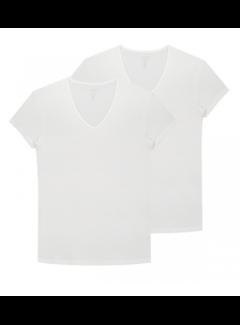 Dstrezzed T-shirts V-hals 2-Pack Bamboo White (202310 - 100)B