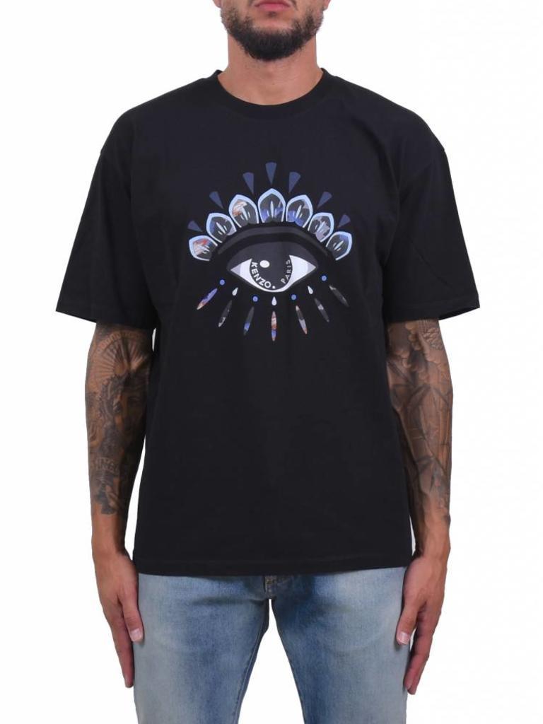 c4bd3f45a Kenzo Paris 'Eye' Jersey T-Shirt Black - Mensquare
