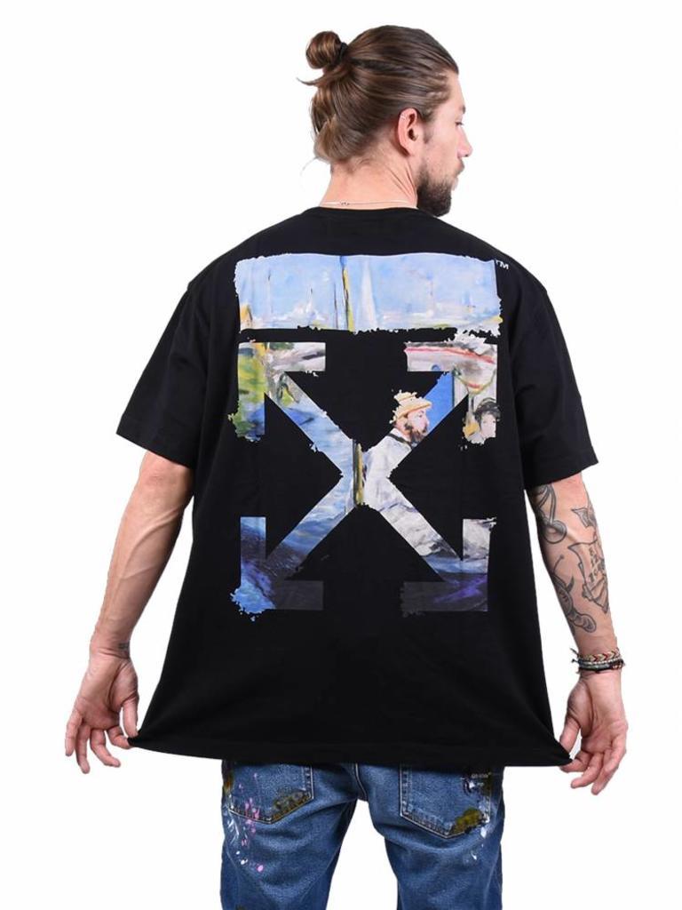 696432c15001 Off-White  Colored Arrows  T-Shirt Black - Mensquare