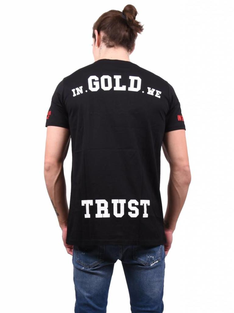 9080696467 In Gold We Trust In Gold We Trust 'Front Pocket' T-Shirt Black