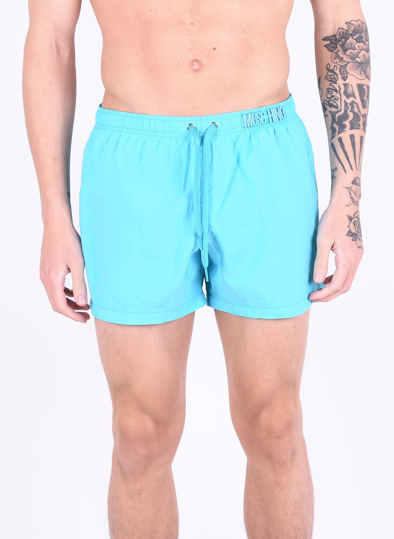 107e488c33d95 Moschino 'Logo' Swimshorts Blue - Mensquare