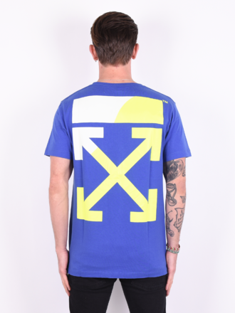 e7af4c6f9fa8 Off-White Off-White  Split Logo Slim  T-shirt Blue Yellow