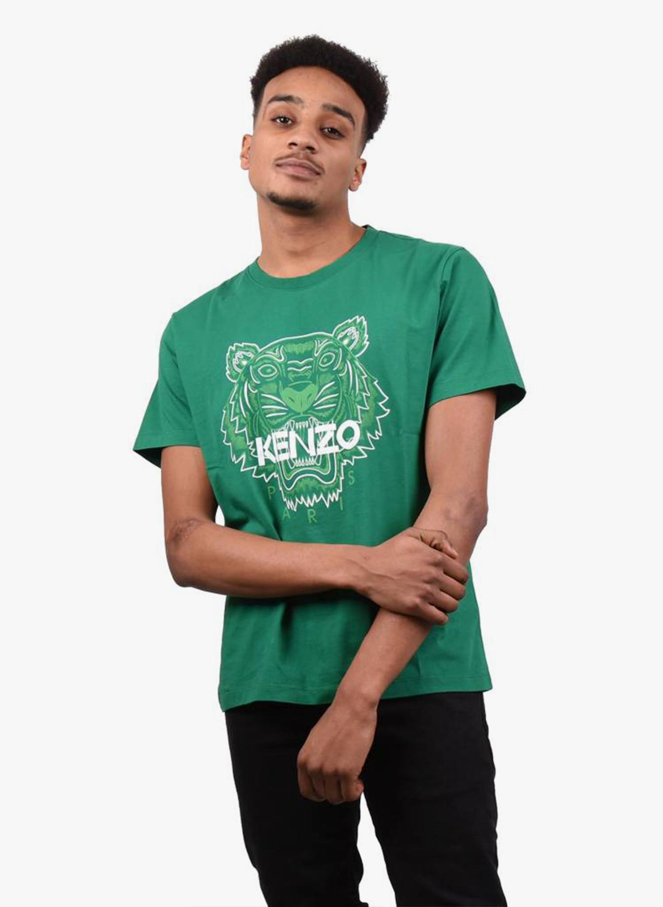 f9060c9d Kenzo Paris 'Tiger' T-Shirt Green - Mensquare