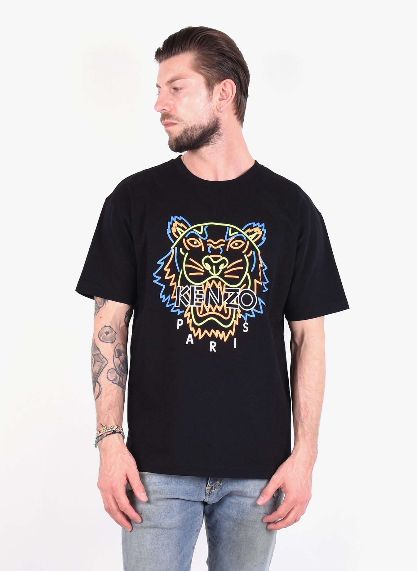 f54bad53 Kenzo Paris 'Neon Tiger' T-Shirt Black - Mensquare