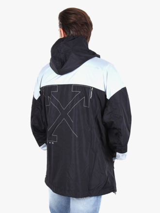 bf67ee5732860 Off-White Off-White 'Unfinished' Windbreaker Black